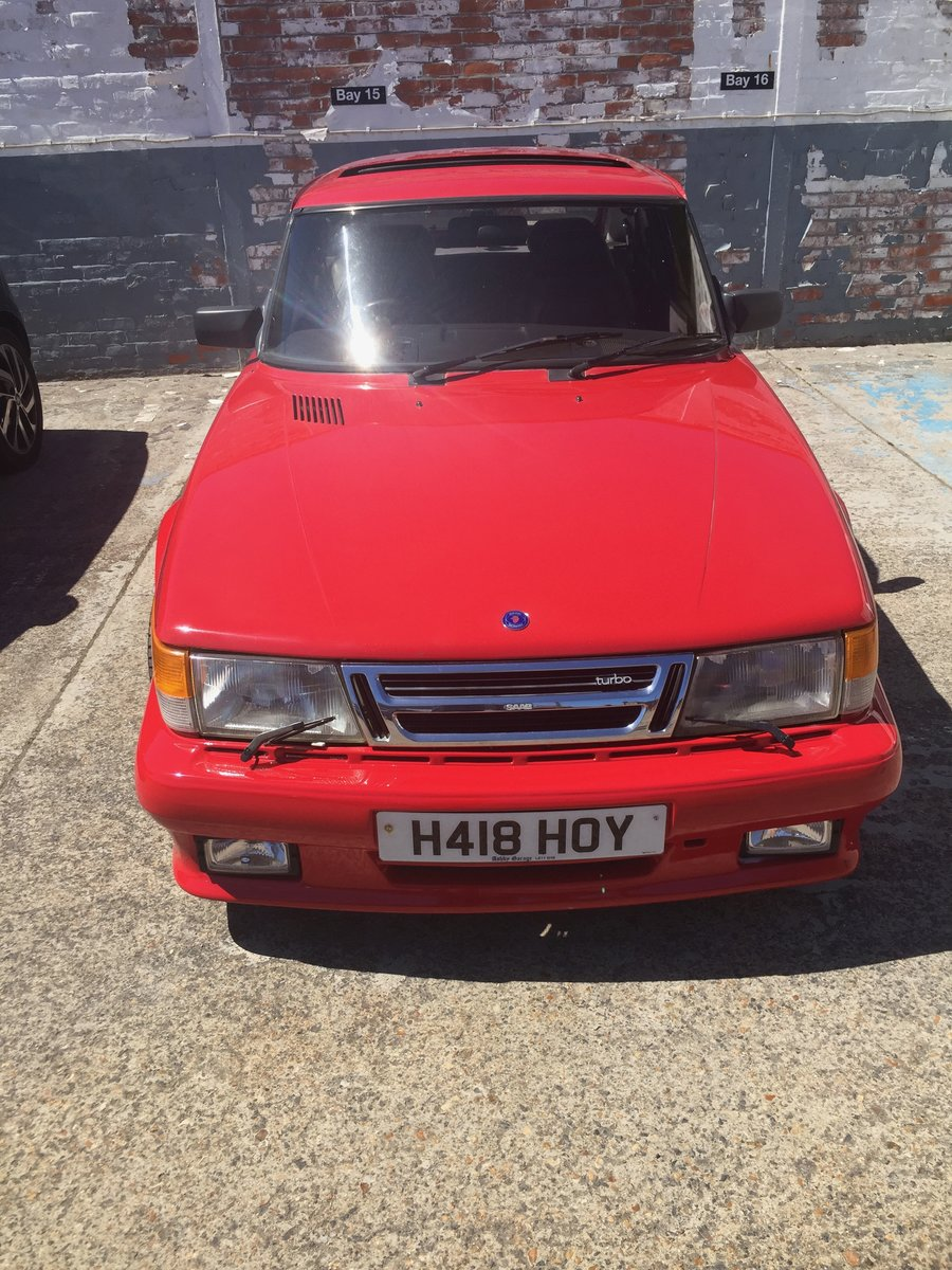 1990 Saab 900 Red over Black For Sale (picture 2 of 6)