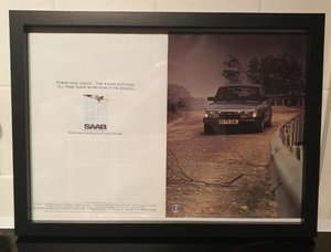 Original 1985 Saab 900 Turbo Framed Advert