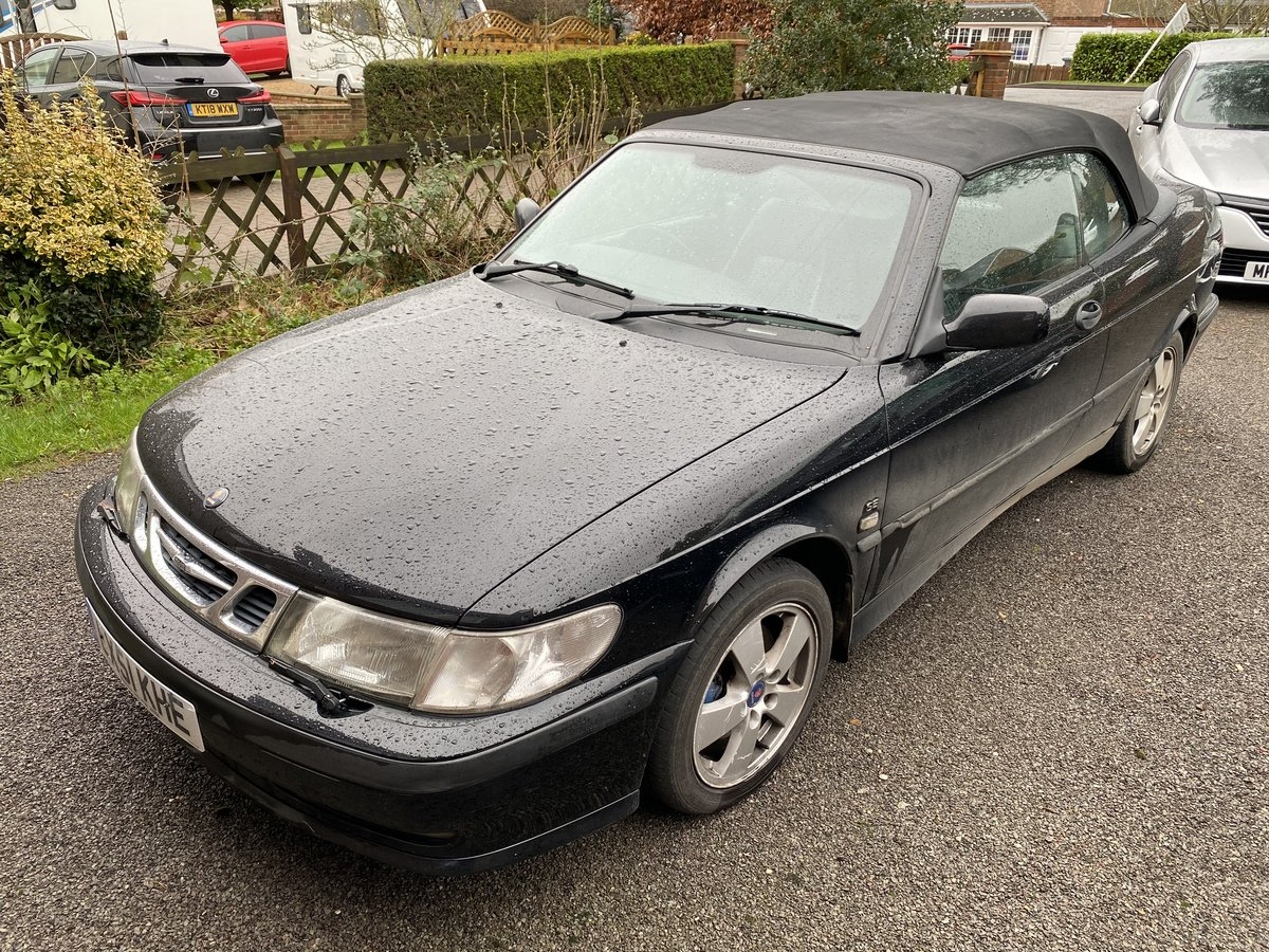 2001 Saab 9-3 Turbo convertible auto SOLD (picture 1 of 6)