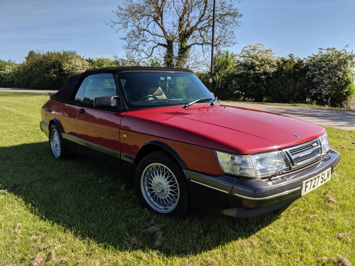 1989 Saab 900 T16S Aero Convertible T5 Trionic Conversion For Sale (picture 1 of 6)
