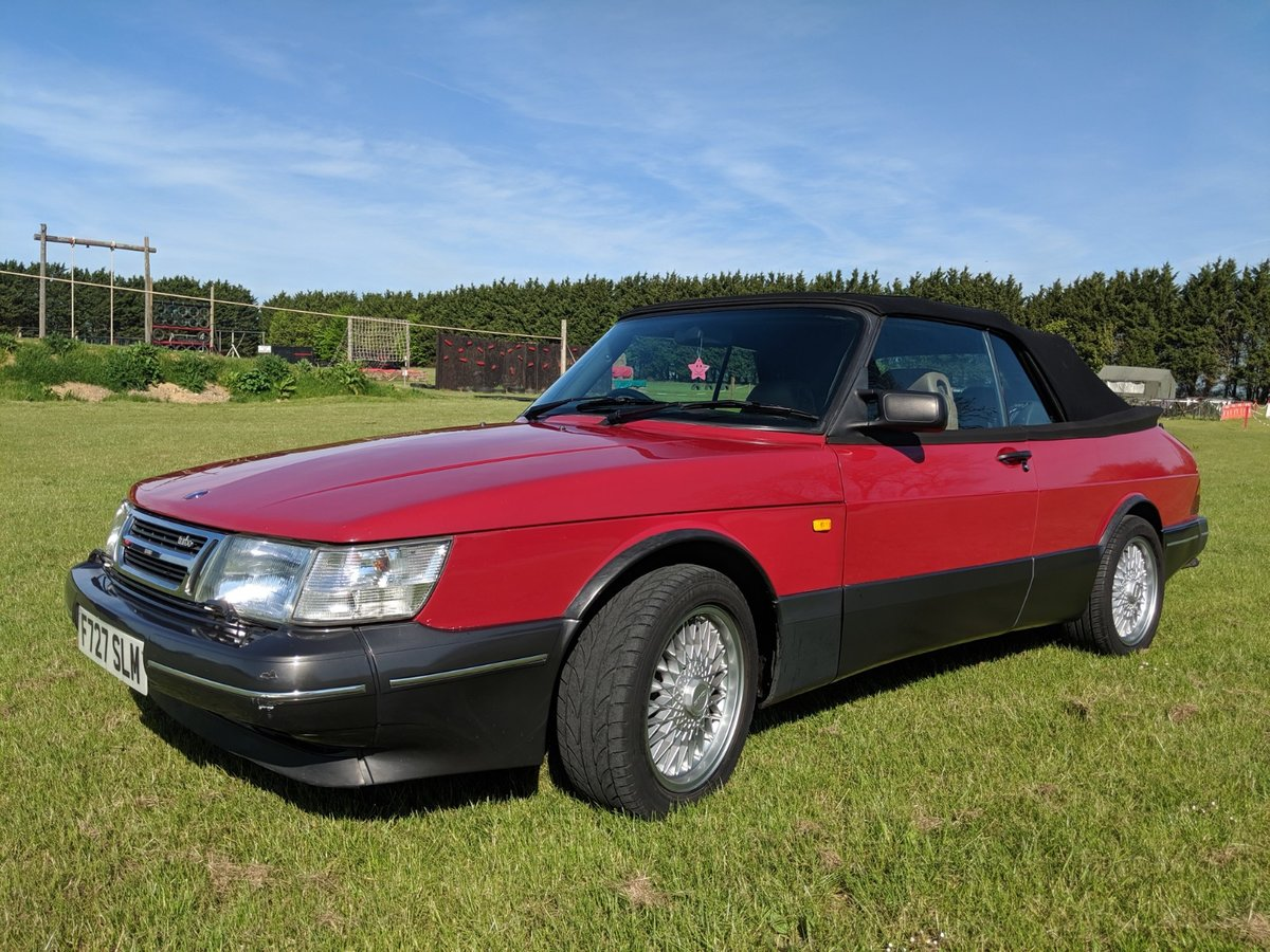1989 Saab 900 T16S Aero Convertible T5 Trionic Conversion For Sale (picture 2 of 6)