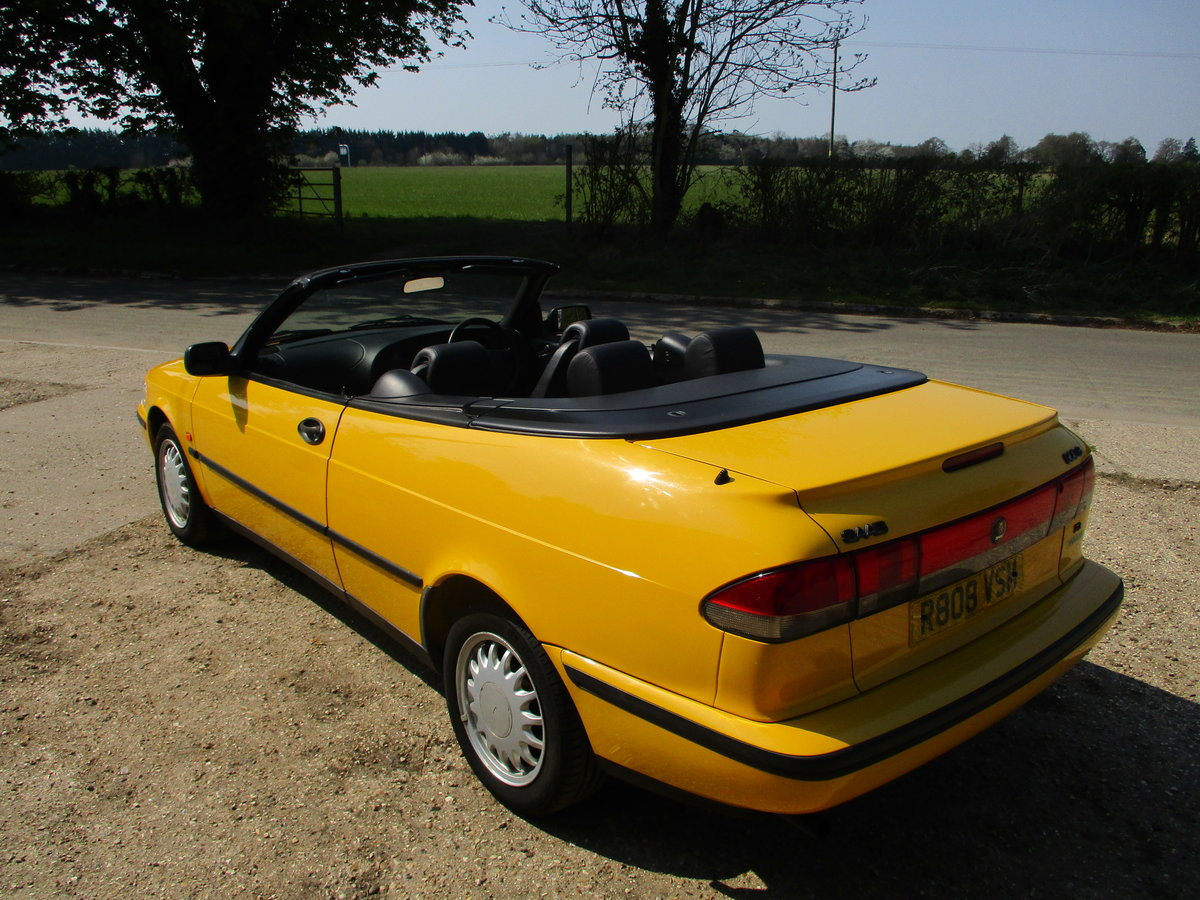 1998 Saab 900S 2.3 Convertible Automatic SOLD (picture 4 of 6)