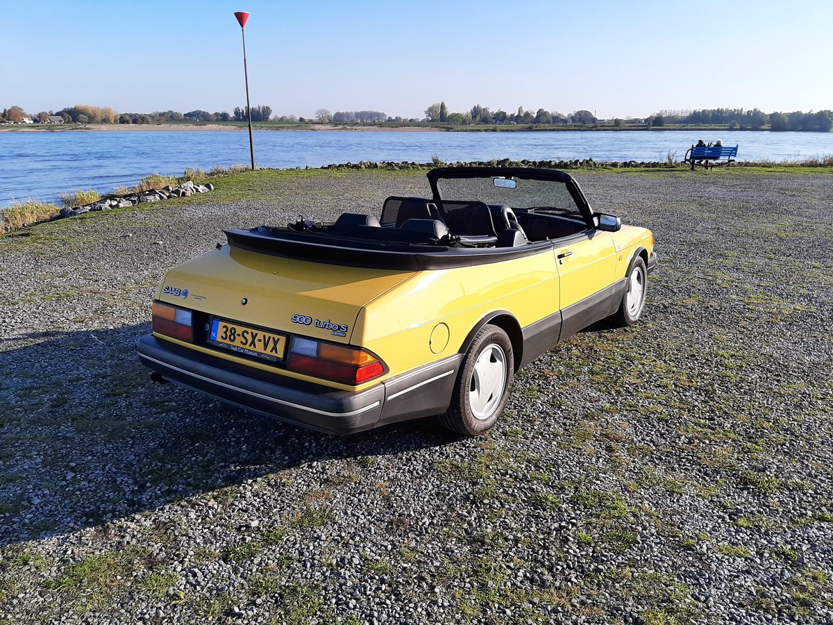 Saab 900 turbo 16S convert 1992 Monte Carlo yellow new motor For Sale (picture 1 of 6)