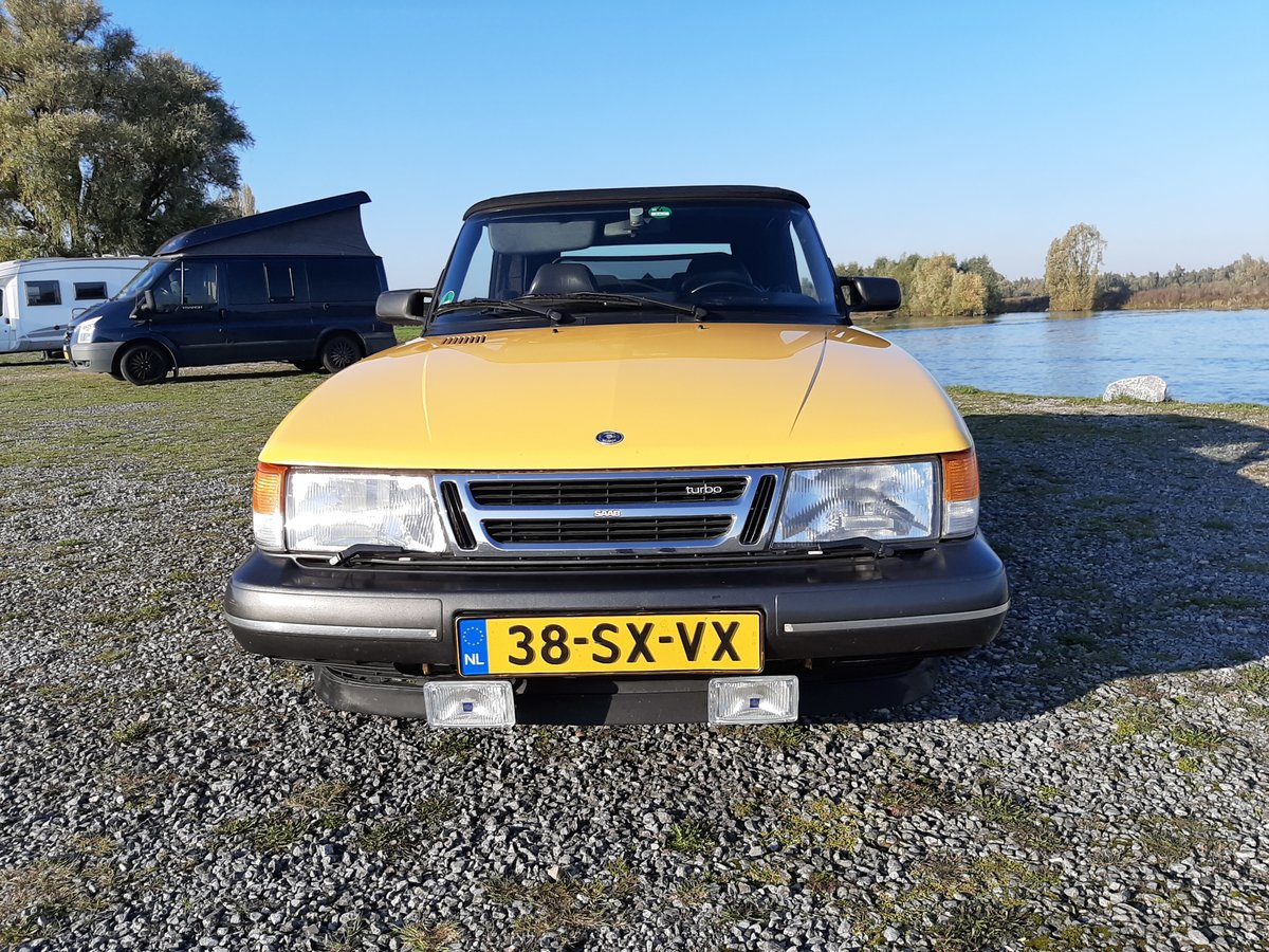 Saab 900 turbo 16S convert 1992 Monte Carlo yellow new motor For Sale (picture 4 of 6)