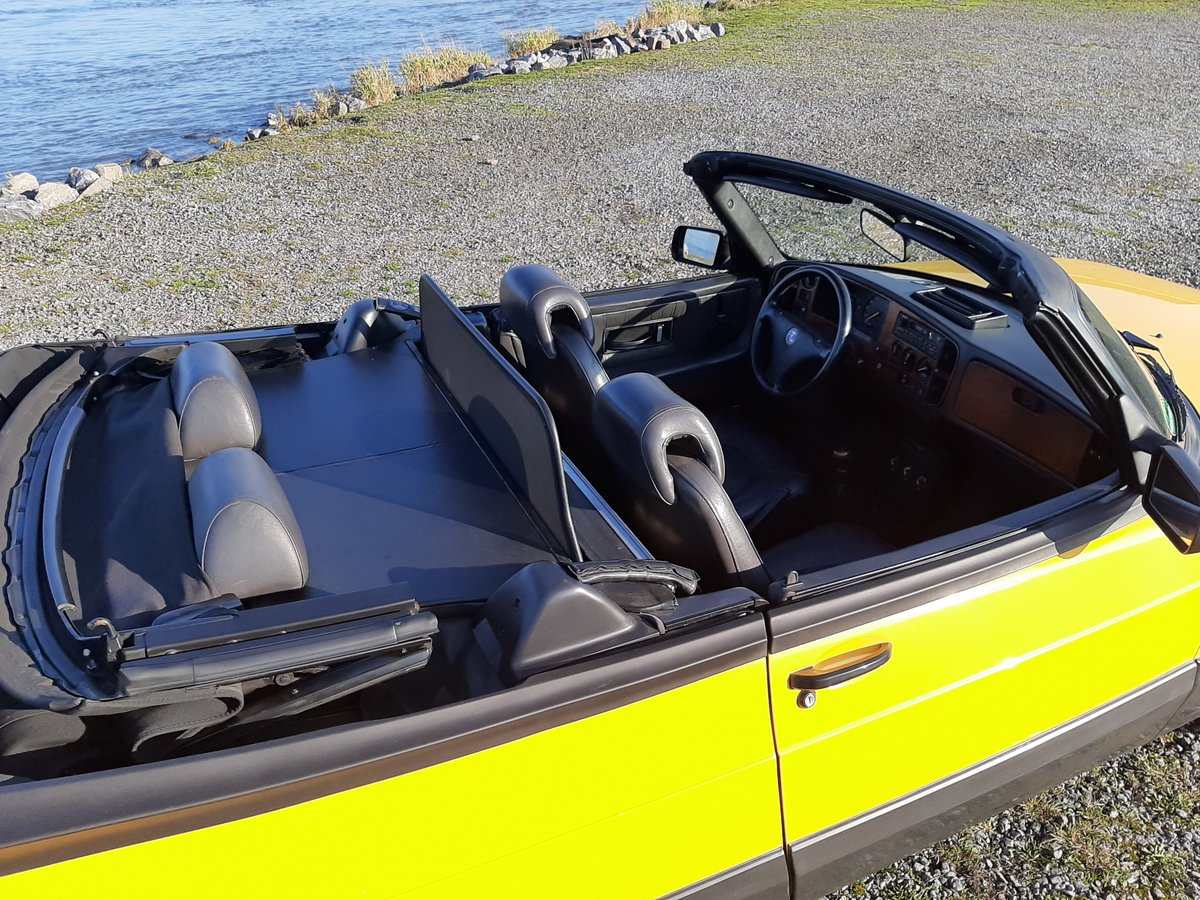 Saab 900 turbo 16S convert 1992 Monte Carlo yellow new motor For Sale (picture 6 of 6)