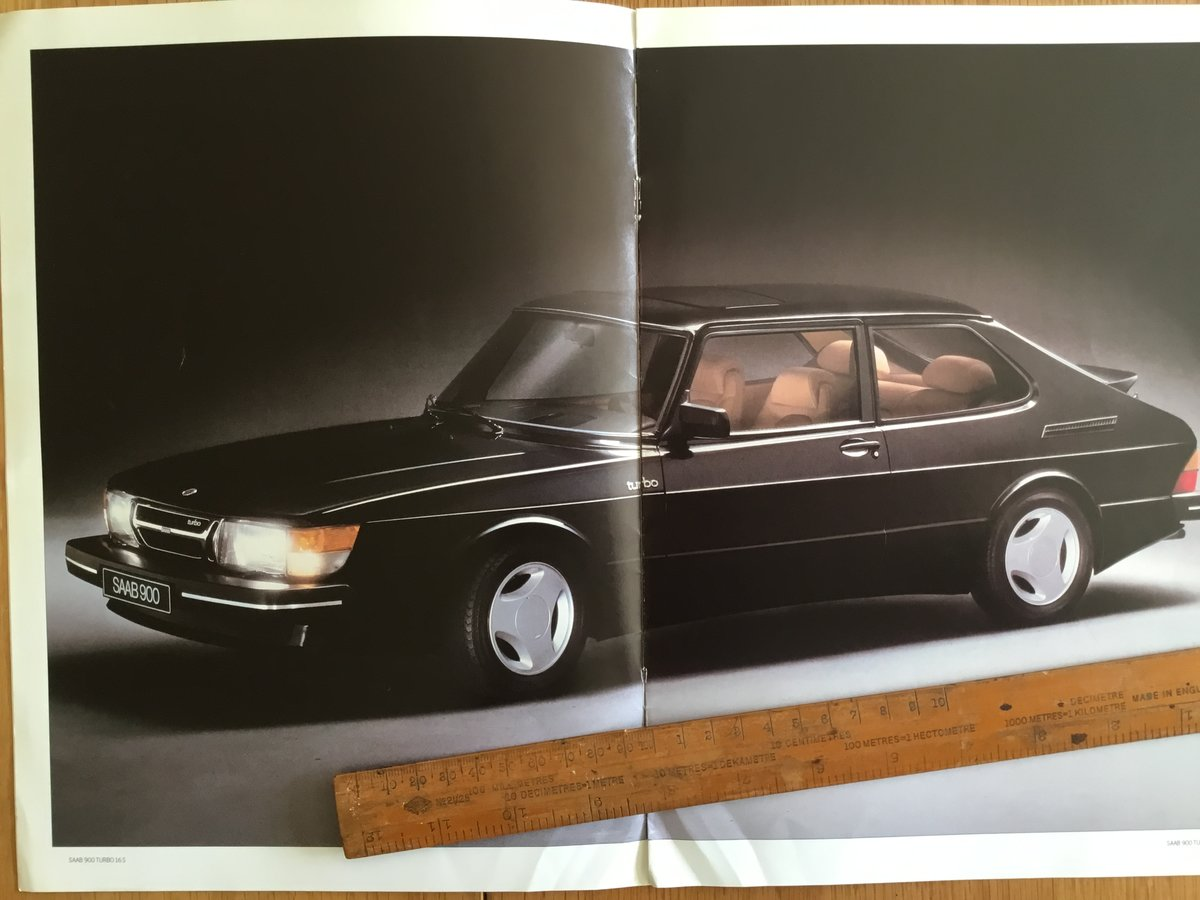 1985 Saab 900 turbo 16s brochure For Sale (picture 1 of 2)