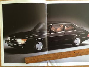 1985 Saab 900 turbo 16s brochure