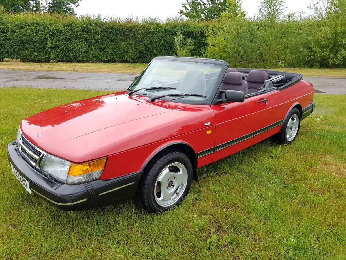 1990 Saab 900i 16v Convertible 87k miles - immaculate For Sale (picture 1 of 6)
