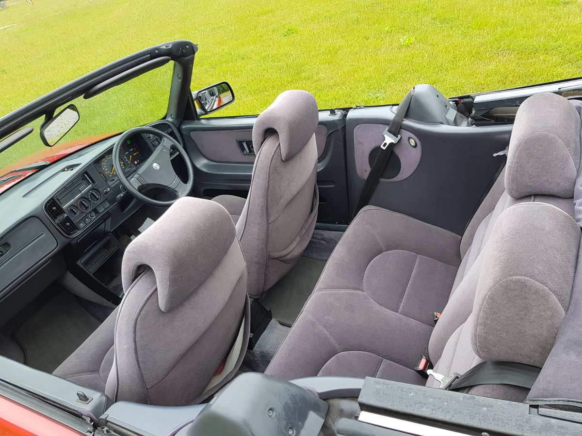 1990 Saab 900i 16v Convertible 87k miles - immaculate For Sale (picture 3 of 6)