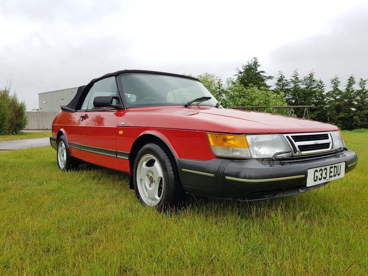 1990 Saab 900i 16v Convertible 87k miles - immaculate For Sale (picture 6 of 6)