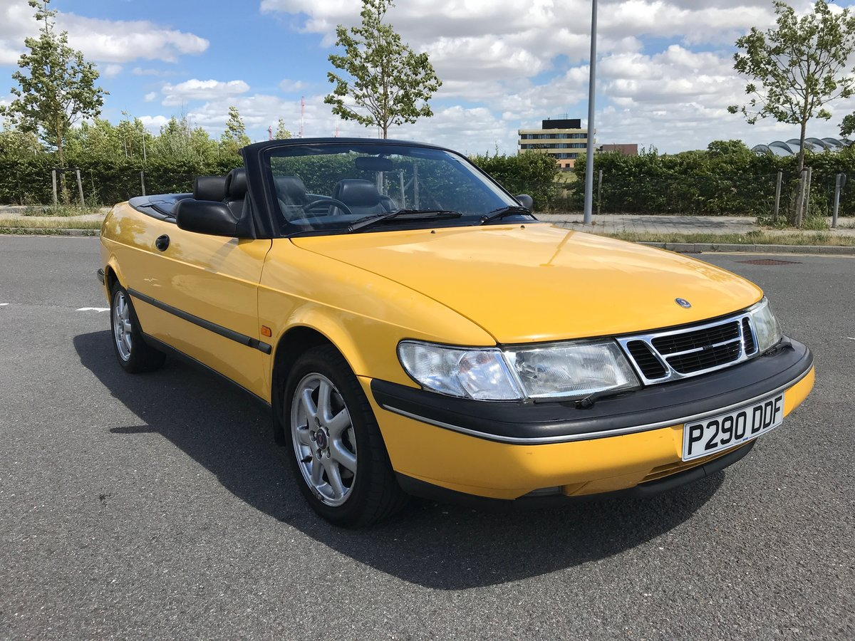 1997 Saab 900 Convertible in Monte Carlo Yellow SOLD (picture 1 of 6)