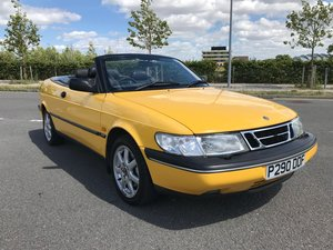 Saab 900 Convertible in Monte Carlo Yellow
