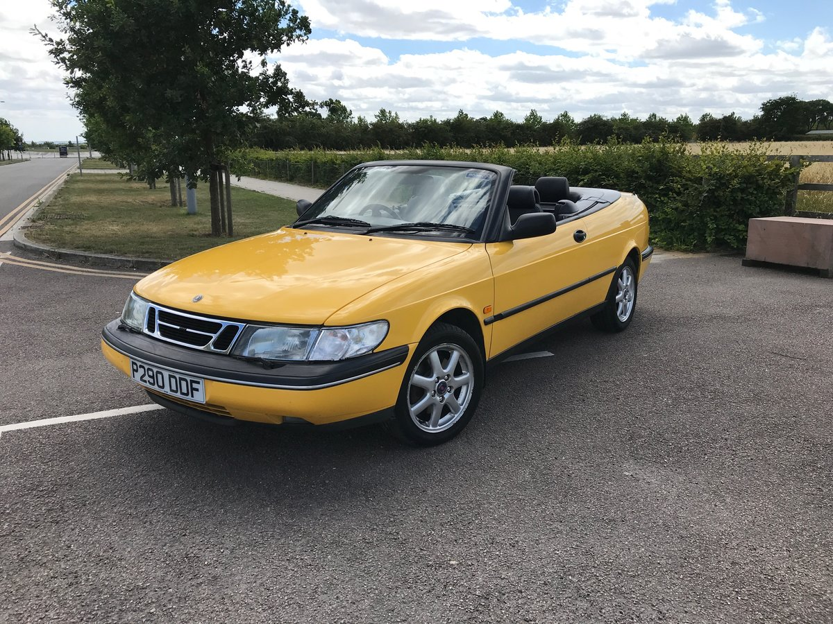 1997 Saab 900 Convertible in Monte Carlo Yellow SOLD (picture 2 of 6)