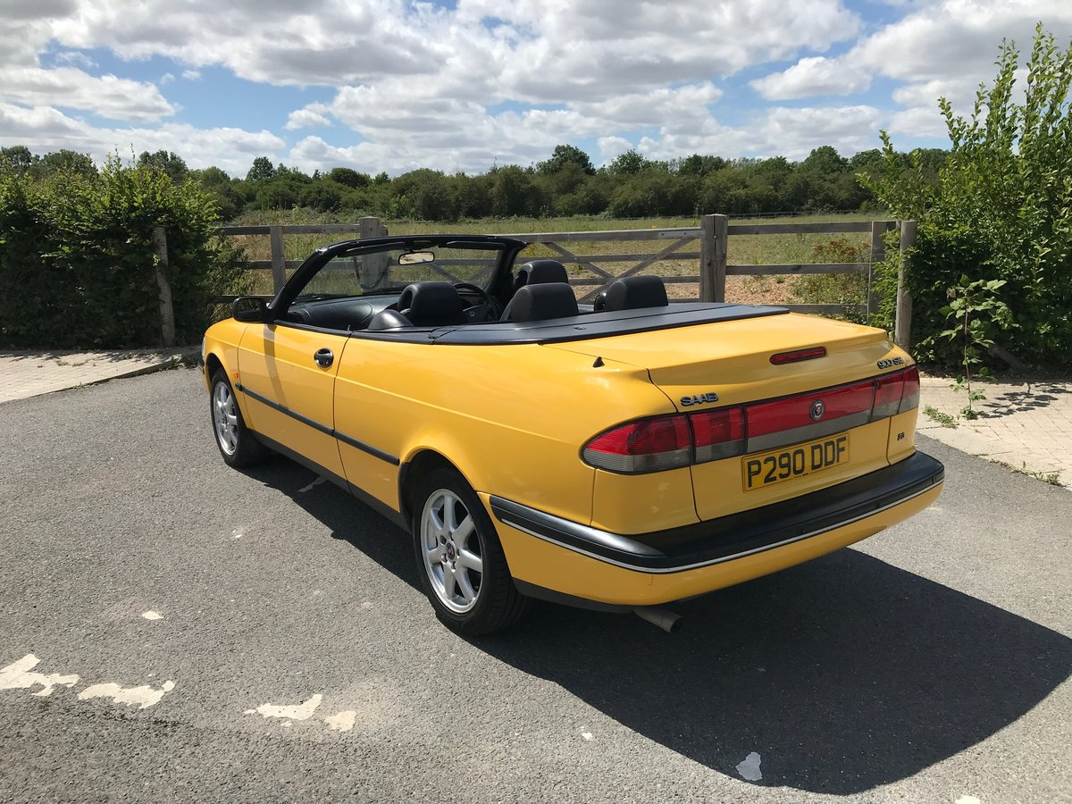 1997 Saab 900 Convertible in Monte Carlo Yellow SOLD (picture 3 of 6)
