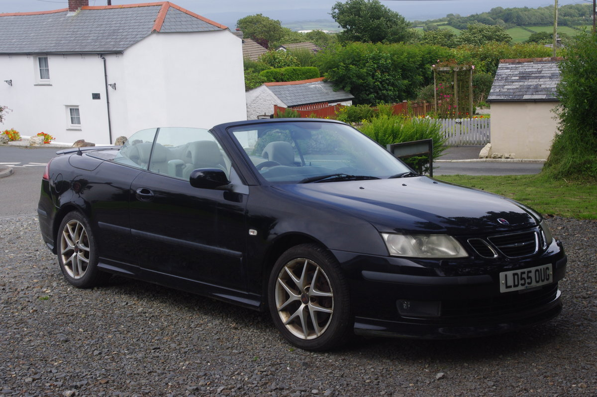 2005  Saab Aero 93 turbo convertible, black For Sale (picture 1 of 6)