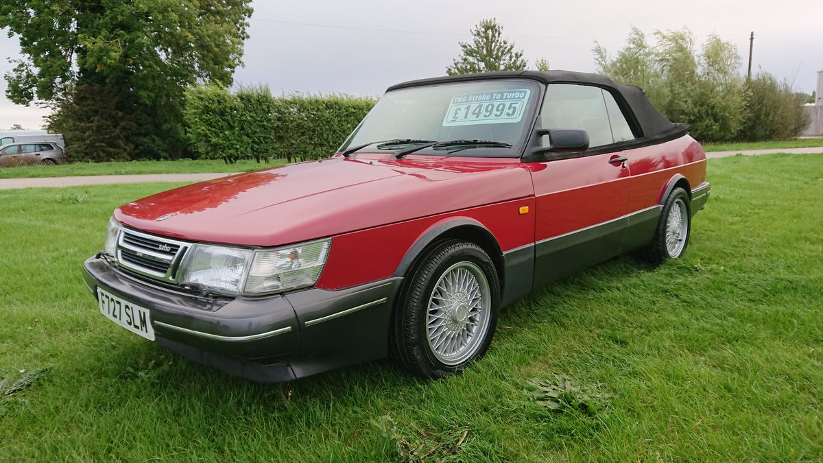 1989 Saab 900 T16 Aero Convertible T5 Trionic Conversion For Sale (picture 1 of 6)