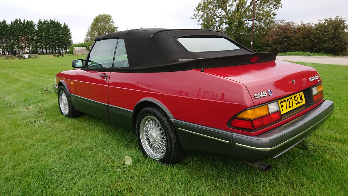 1989 Saab 900 T16 Aero Convertible T5 Trionic Conversion For Sale (picture 2 of 6)
