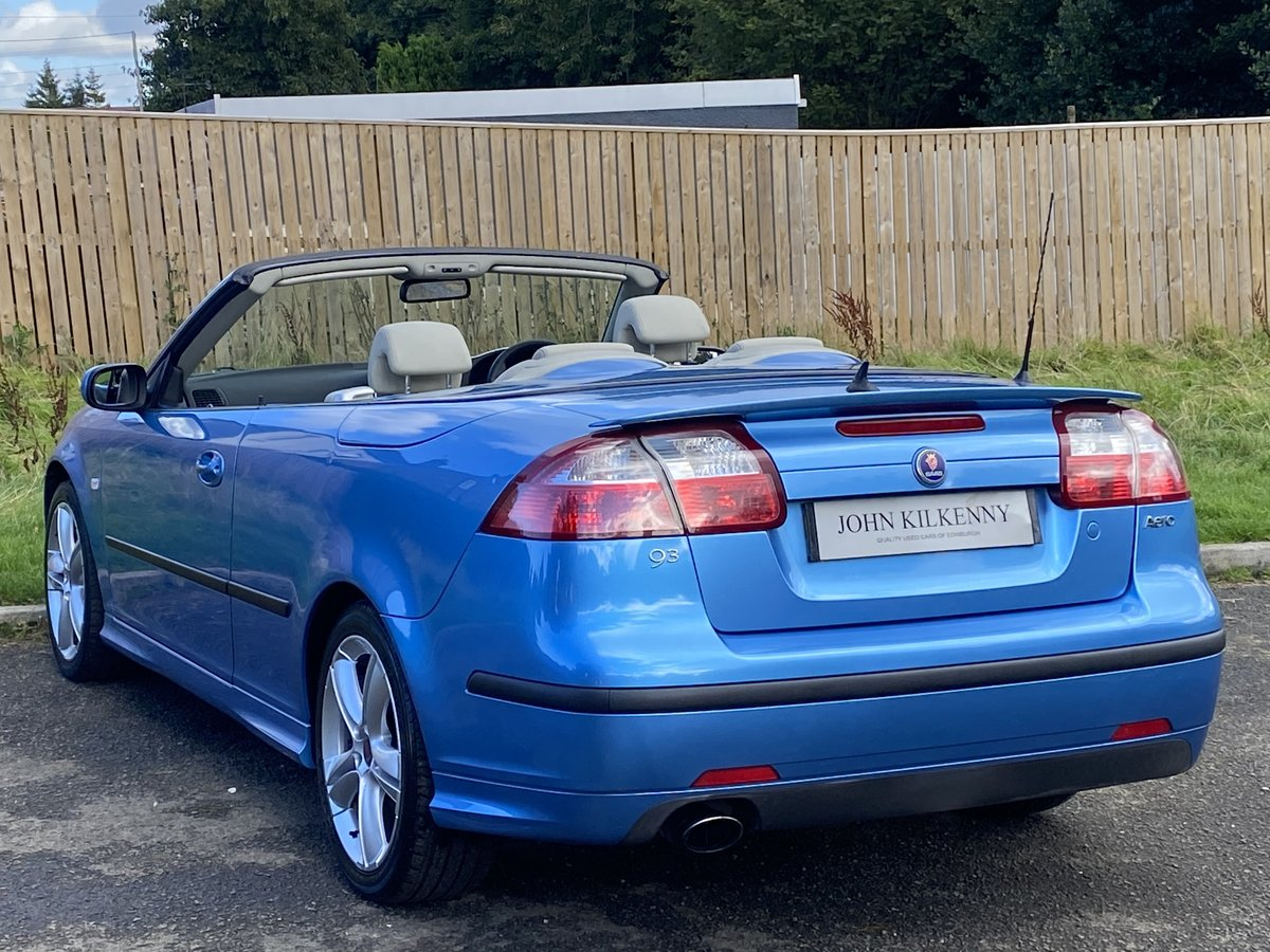 2007 SAAB 9-3 2.0 TURBO AERO CONVERTIBLE **STUNNING COL For Sale (picture 3 of 6)
