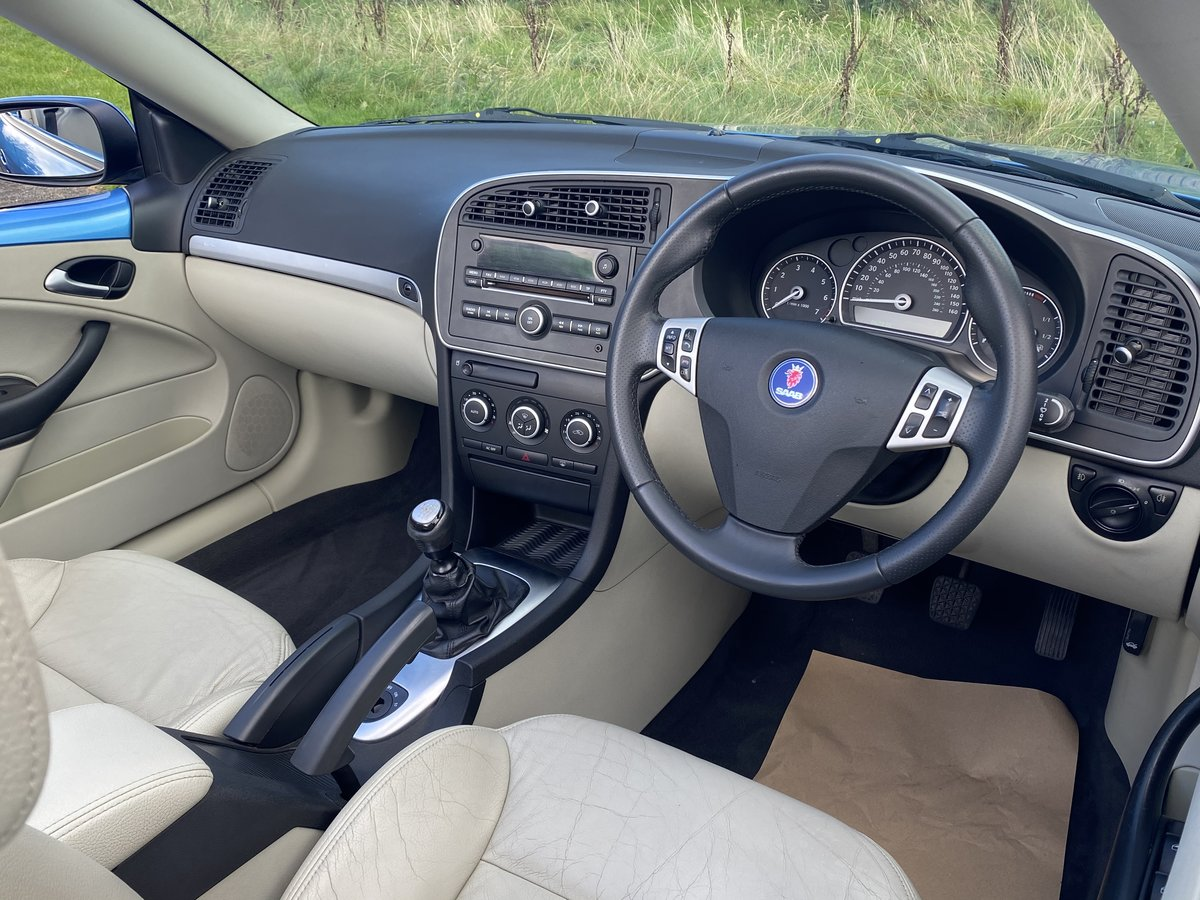 2007 SAAB 9-3 2.0 TURBO AERO CONVERTIBLE **STUNNING COL For Sale (picture 6 of 6)