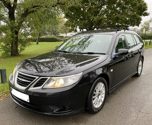 2008 Saab 9-3 Linear SE TiD 150BHP Black Estate