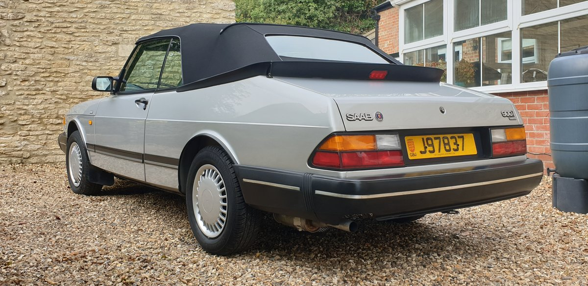 1990 Saab 900i 16v Convertible, 30,000 miles. 1 family owned. For Sale (picture 2 of 6)