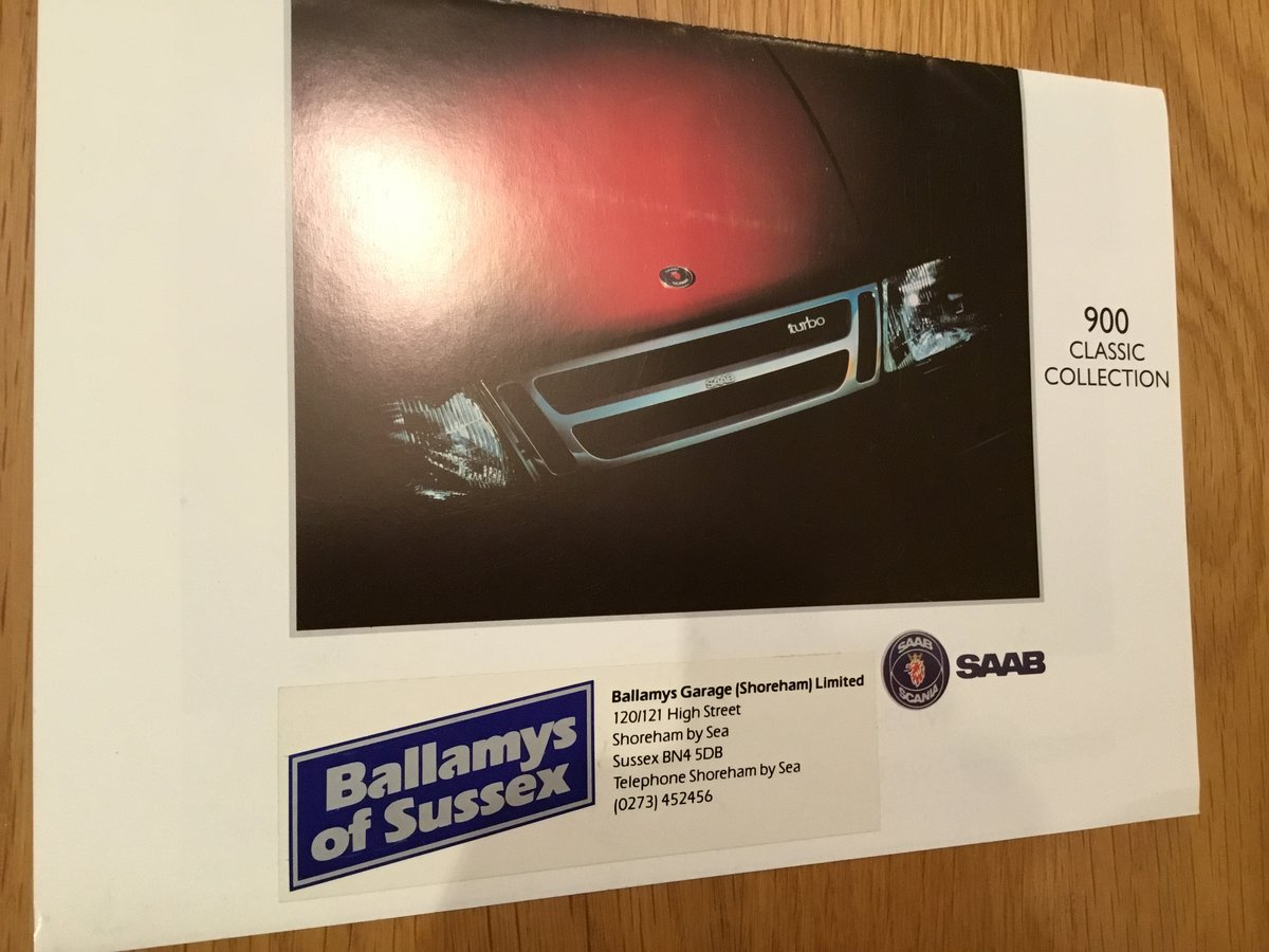 1993 Saab 900 classic brochure For Sale (picture 1 of 2)