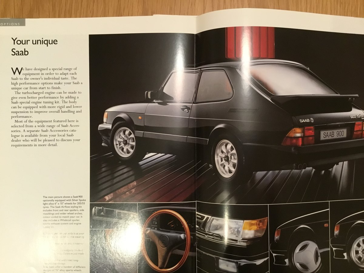1993 Saab 900 classic brochure For Sale (picture 2 of 2)