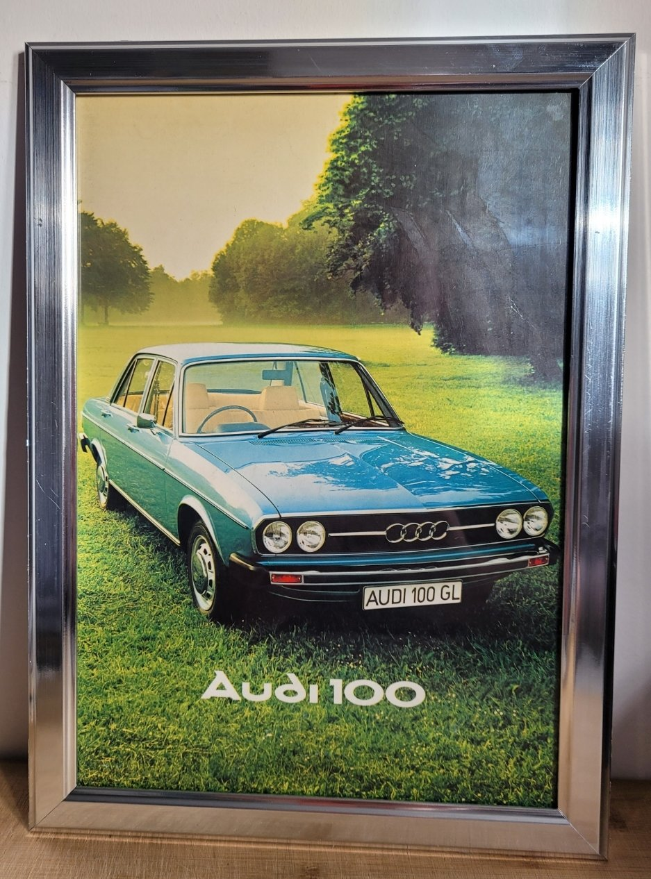 Original 1976 Audi 100 Framed Advert