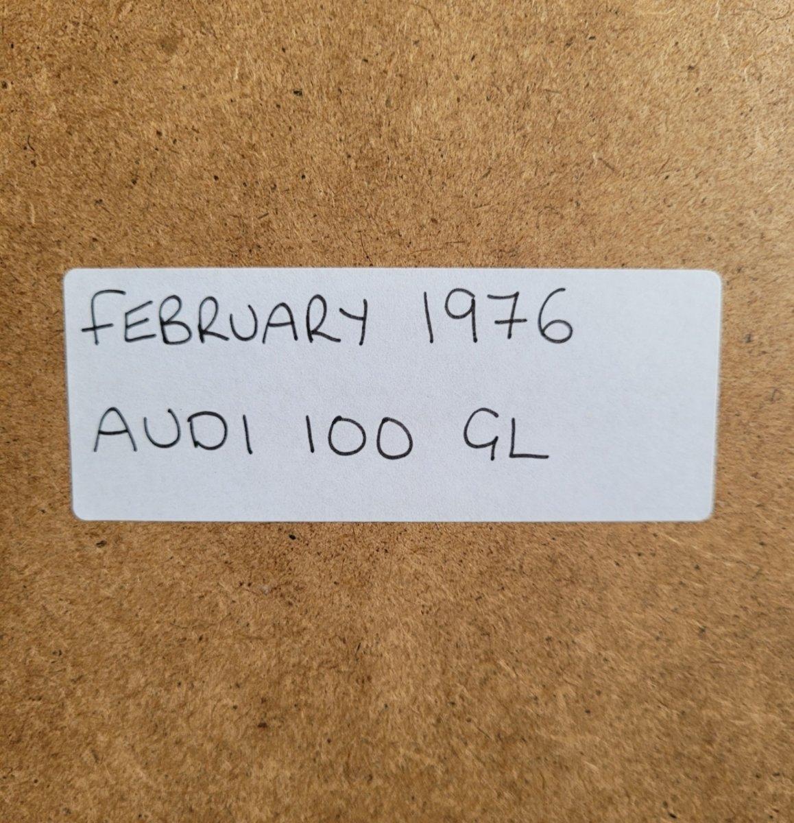 1977 Original 1976 Audi 100 Framed Advert For Sale (picture 2 of 3)