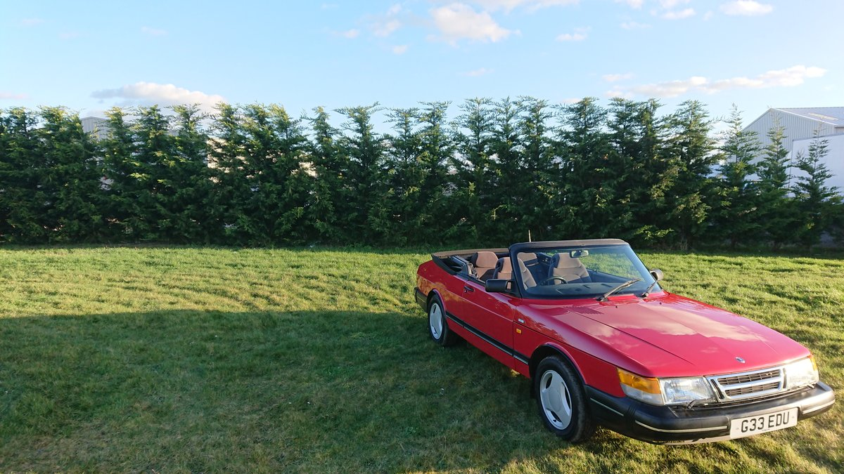 1990 Saab 900i 16v Convertible 87k miles - immaculate For Sale (picture 8 of 9)