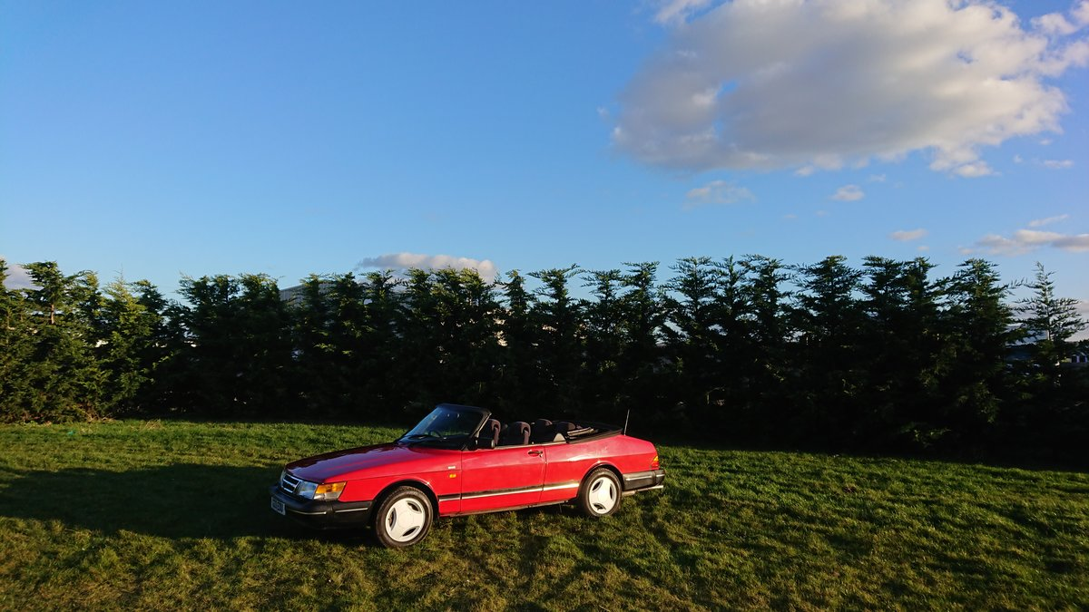 1990 Saab 900i 16v Convertible 87k miles - immaculate For Sale (picture 9 of 9)