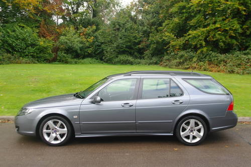 SAAB 9-5 TiD VECTOR SPORT..AUTO..ESTATE..FSH..NICE EXAMPLE SOLD (picture 1 of 6)