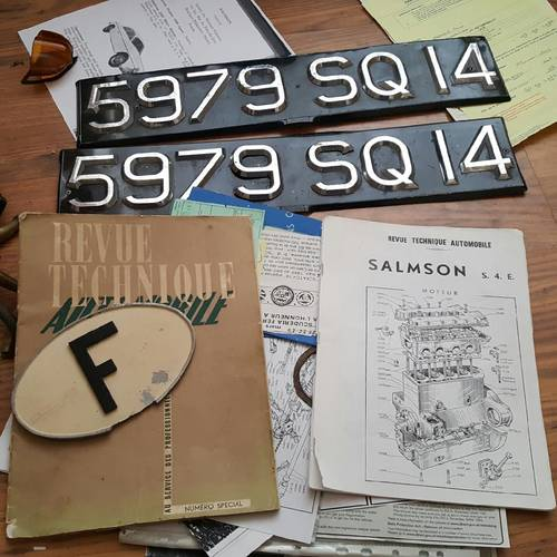Classic salmson coupe manuals  For Sale (picture 1 of 4)