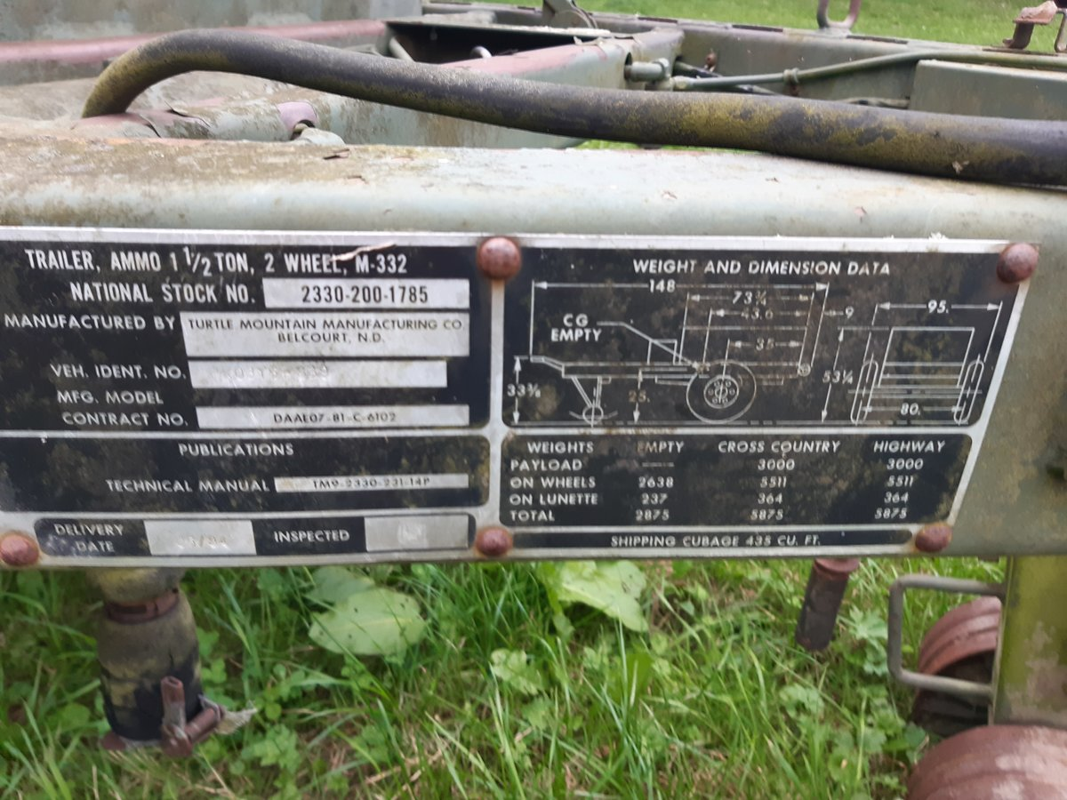 1940 American 1.5 tonne ammo trailer For Sale (picture 2 of 3)