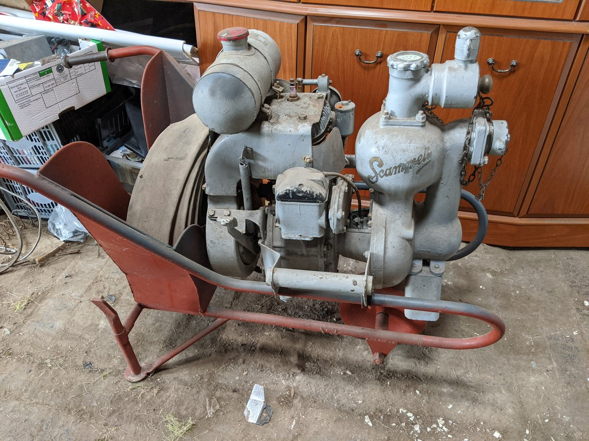 1939 Scammell wheelbarrow fire pump For Sale (picture 1 of 4)