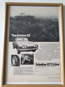 Original 1970 Scimitar GT Framed Advert