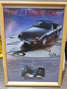 Original 1985 Scimitar SS1 Framed Advert