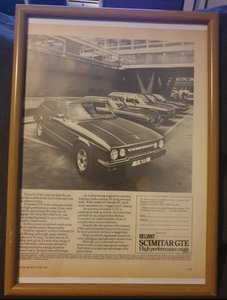 Original 1977 Scimitar GTE Advert