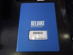 RELIANT SCIMITAR WORKSHOP MANUAL + OWNERS HANDBOOK OFFERS