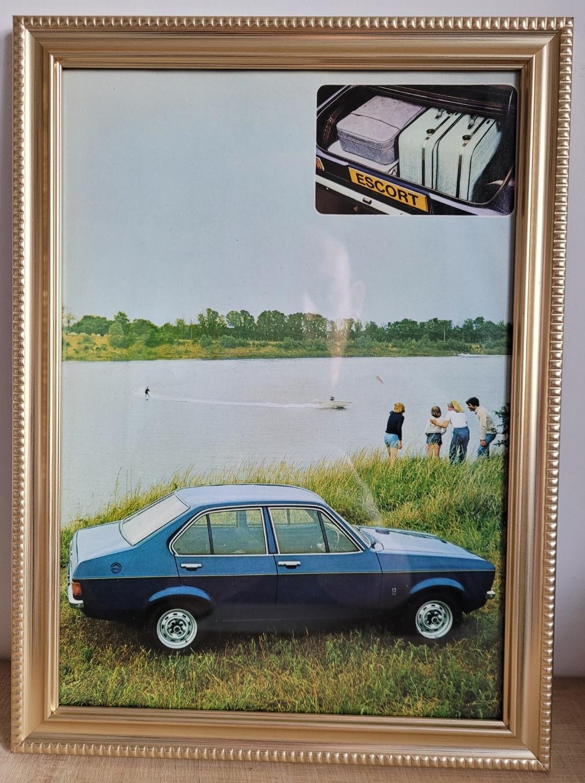 Original 1976 Ford Escort MK2 Framed Advert