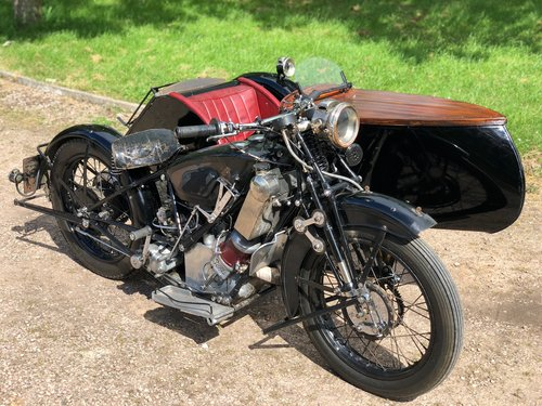 1927 Scott Squirrel 596cc Vintage Sidecar Outfit. SOLD (picture 1 of 6)