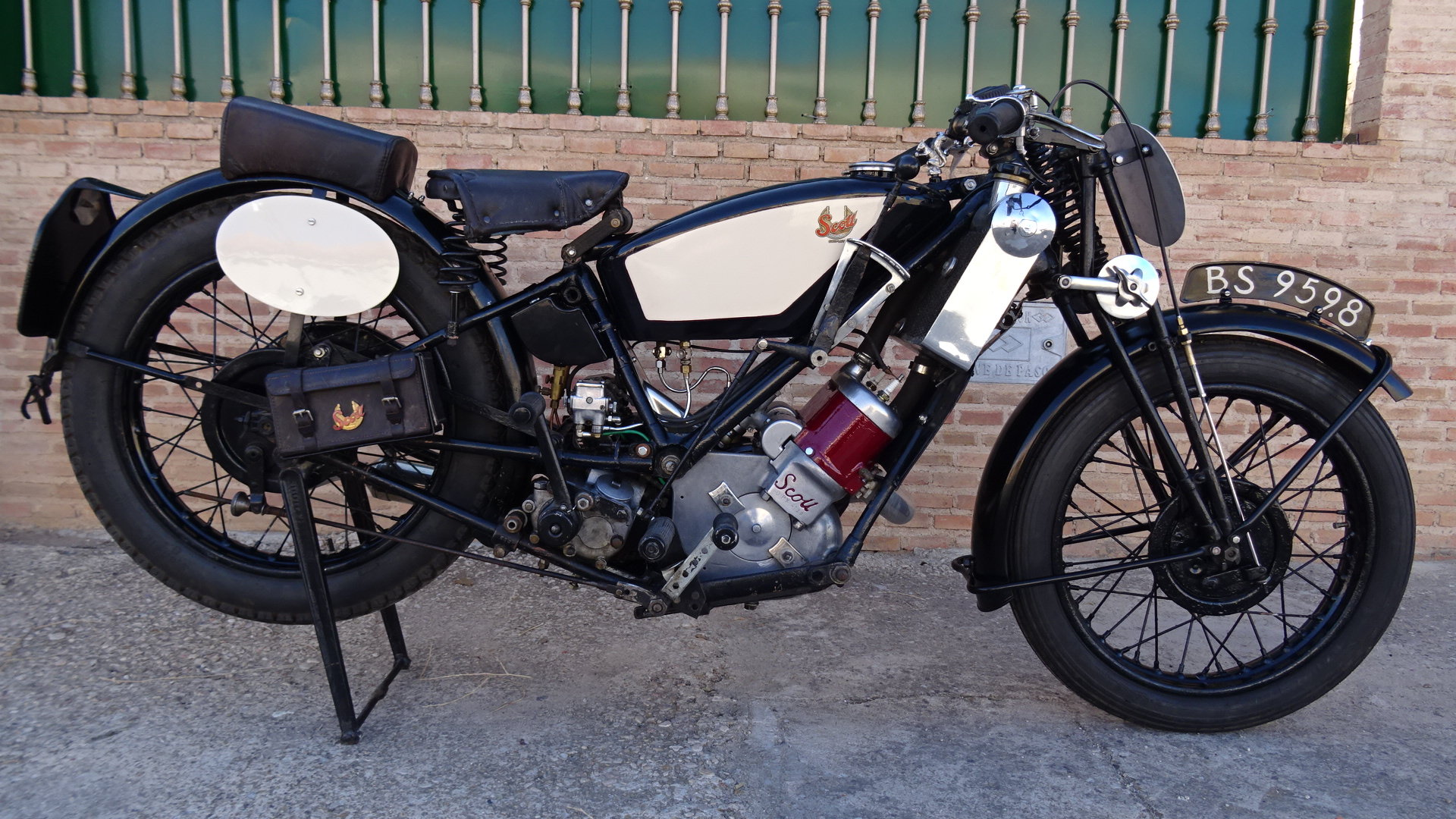 1926 Scott flying squirrel 596cc type tt racer For Sale (picture 1 of 6)