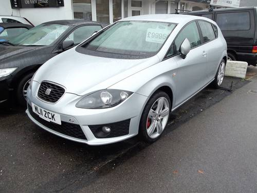 2011 SEAT LEON FR CR 2.0 TDi DIESEL 5 DOOR HATCHBACK 2011 SOLD (picture 1 of 2)