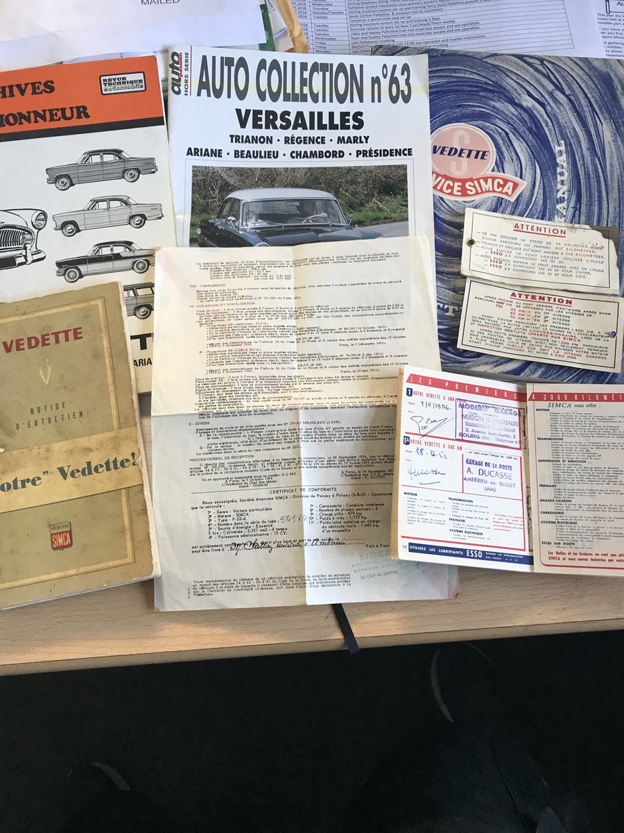1956 Simca vedette Versailles V8 For Sale (picture 5 of 6)