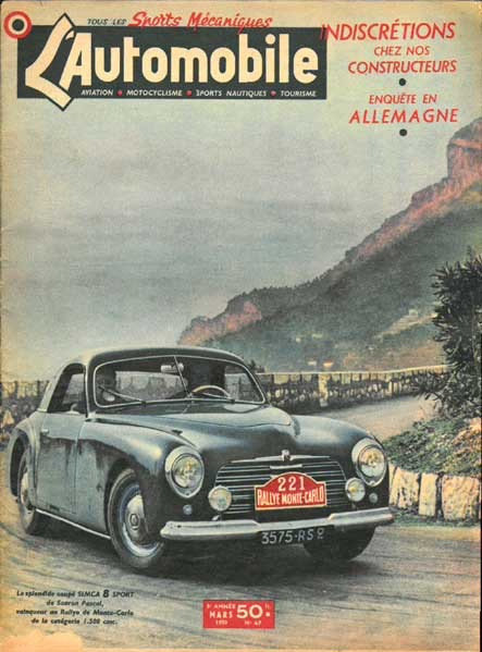 1952 Simca 8 Sport Coupe by Facel SOLD (picture 6 of 6)