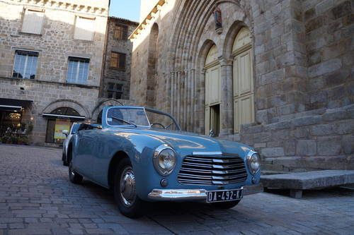1950 Ultra rare Simca 8 Sport Cabriolet by Facel-Metallon For Sale (picture 1 of 6)