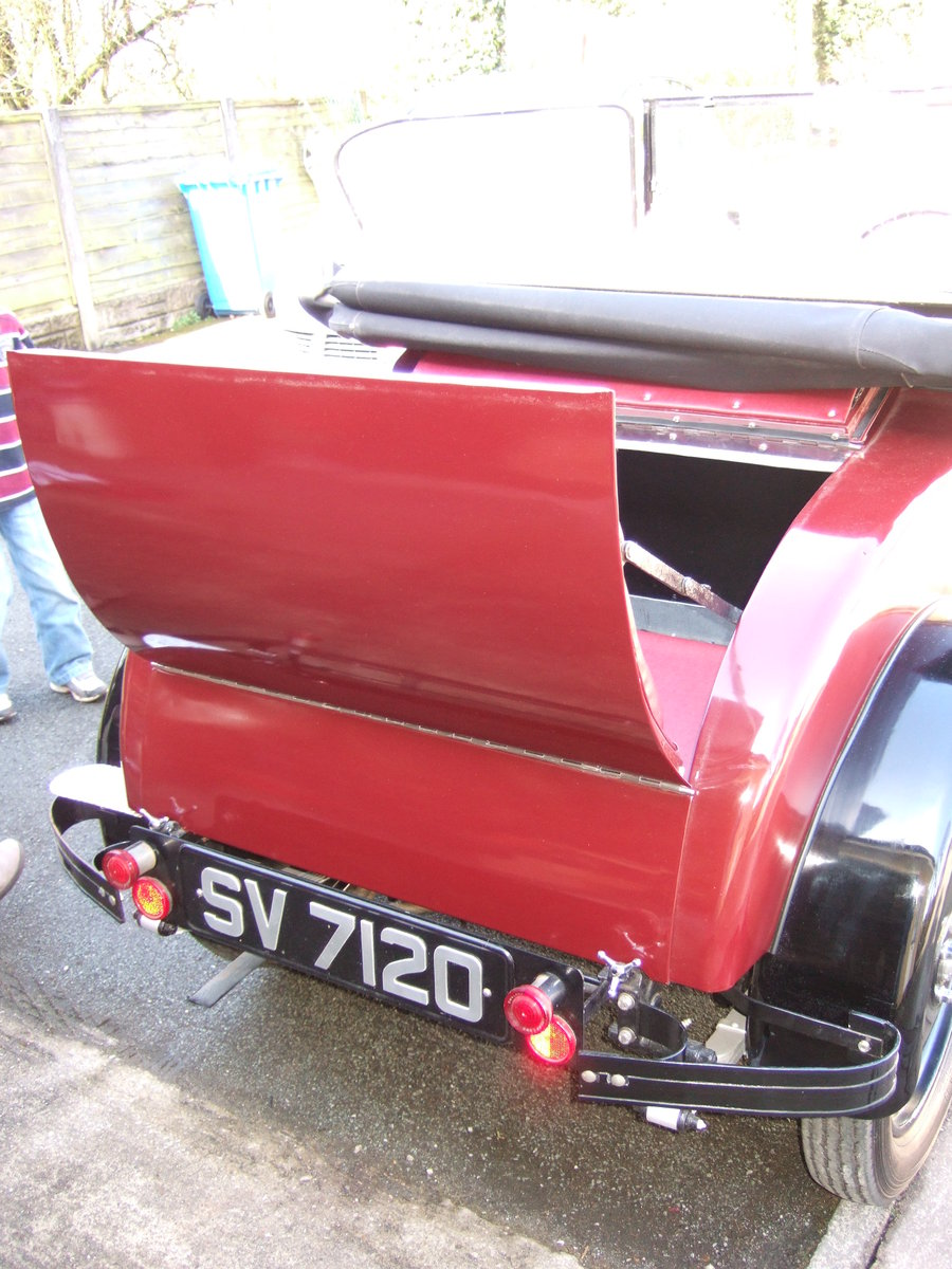 1930 SINGER JUNIOR 2 SEATER WITH DICKIE   SOLD (picture 4 of 5)