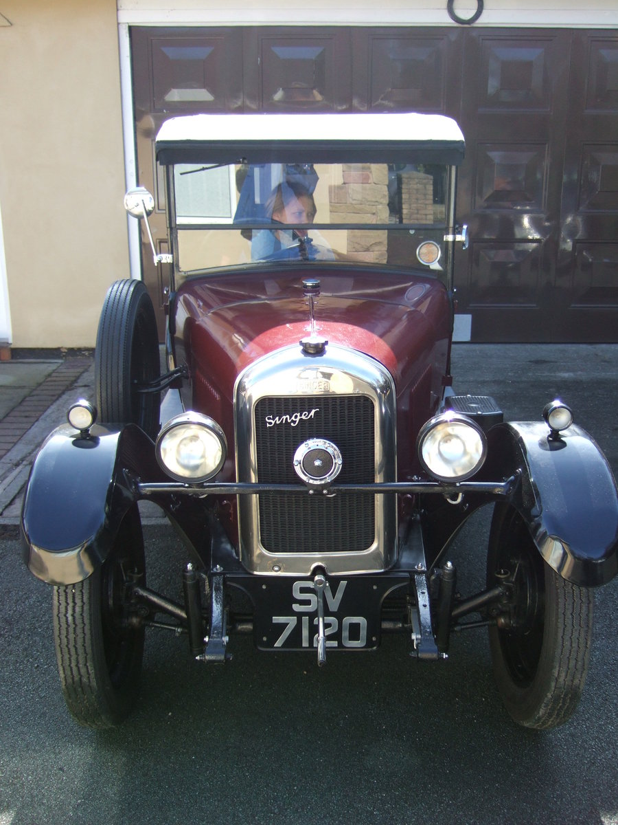 1930 SINGER JUNIOR 2 SEATER WITH DICKIE   SOLD (picture 1 of 5)