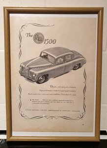 1951 S.M. 1500 Framed Advert Original