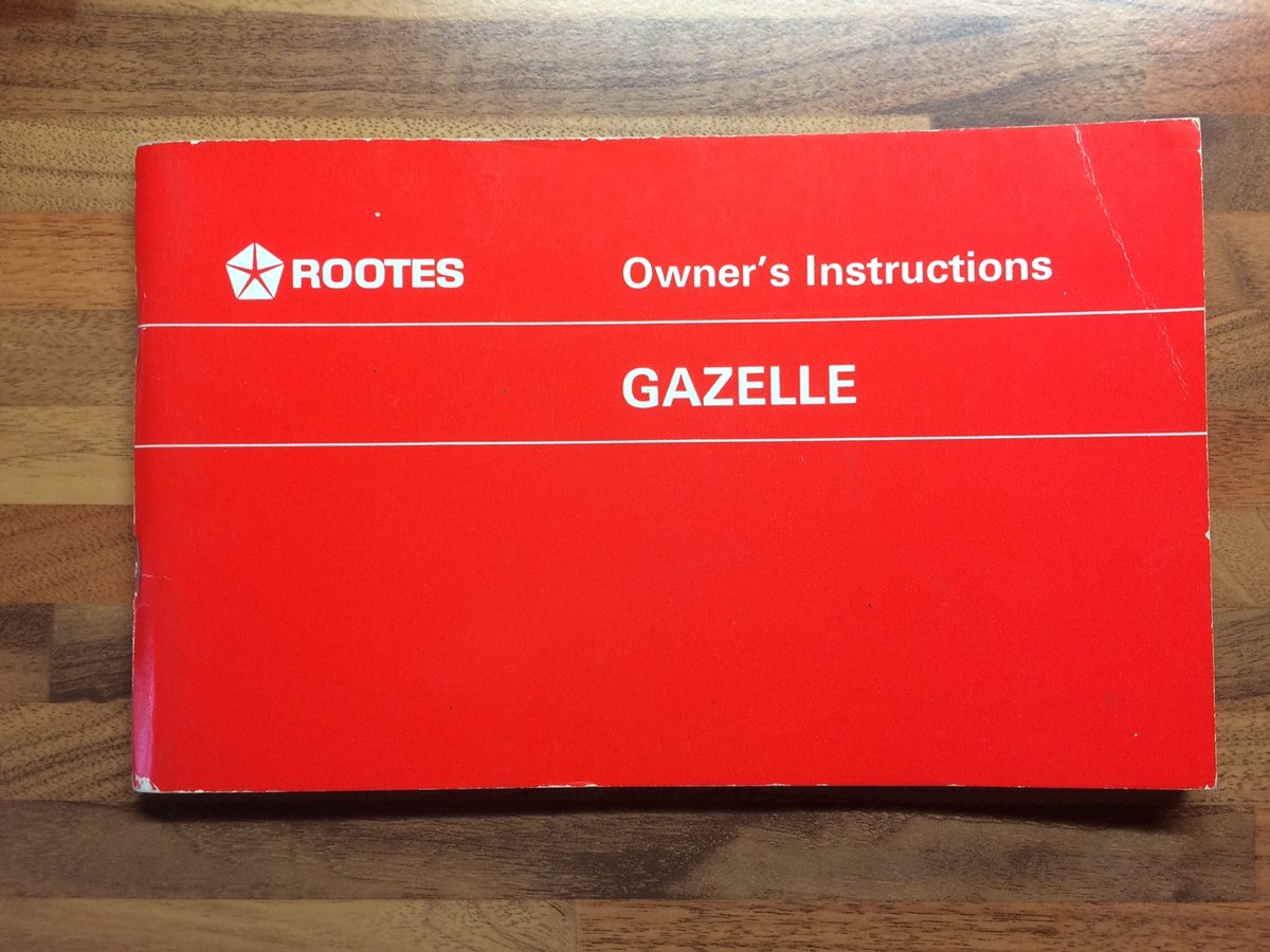 Singer Gazelle Owners Manual/Service record For Sale (picture 1 of 5)